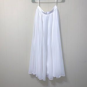 Adrianna Papell ivory cream chiffon evening skirt